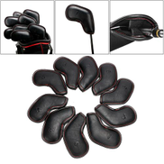 10pcs set PU Leather Golf Cover Protector Headcover