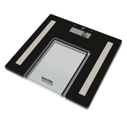 Salter Scale 9128 BK3R Glass Analyser Bathroom Scales - Black