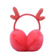 Generic Cute Fashion Antlers Earmuffs Outdoor Winter Warm Soft