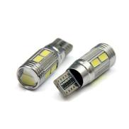 Generic 2pc Car Auto LED T10 194 W5W Canbus 10 SMD 5630 5730 LED Light Bulb WH