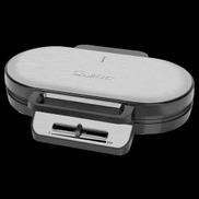 Clatronic WA 3745 Double Waffle Maker - 1200 Watt - Silver Black