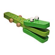 Generic Orffworld تمساح خشبي صنجات طفل آلة موسيقية كارتون راتل لعبة أخضر