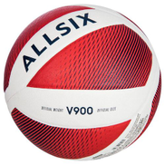 Decathlon V900 Volleyball - Size 5 White Red
