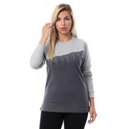 Merch Front Studded Blouse - Dark Grey