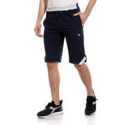 Diadora Men Cotton Short With Logo - Navy