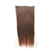 60cm Light Brown One Piece Straight Fiber Hair Extension