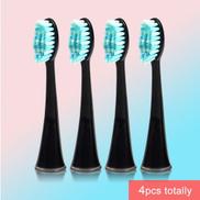 Generic 4pcs lot Replacement Brush Head For SG986 SG987 Super Soft Dupont Bristles Electric Toothbrush Heads Whiten Teethblack