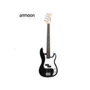 Electric Bass Guitar PB Style With 2 Pickups + Strap, Cable & Picks - 4 Strings - Black
