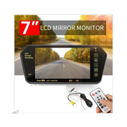 Generic TFT LED مرآة الرؤية الخلفية - 7 بوصة + كاميرا الرؤية الخلفية للسيارة مقاومة للماء