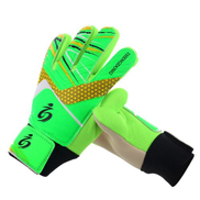 Generic Kids Football Soccer Goalkeeper Anti-Slip Training Gloves Breathable Gloves With Leg Guard ProtectorG2-5