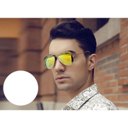 Other Sunglasses to protect against UV framed golden color and green lenses Mirror item NO 530 - 5