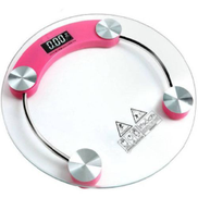 Generic Glass Digital Scale - 180kg - Pink