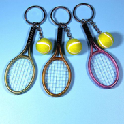 Generic Mini Tennis Racket Pendant Keychain Keyring Key Chain Ring Finder Holer