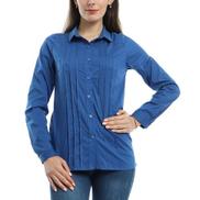 ST ESLA - Classic Long Sleeved Shirt - Blue