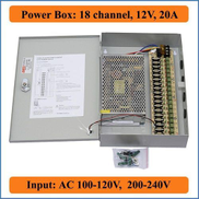 Generic DC Distributed Power Supply Box - 18-Channel - 240W - 20A