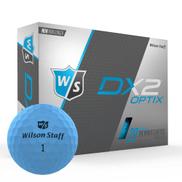 Wilson's DX2 Optix Blue Golf Balls - 3 Balls