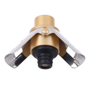 2 PCS Push-button Stainless Steel Pumping Champagne Stopper Sparkling Champagne Snap Wing Vacuum Wine StopperGold