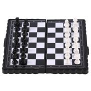 Generic TB Portable Folding Magnetic Pocket Plastic Chess Chess Entertainment For Partyblack+white