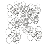100PCS Thick Metal Book Loose Leaf Binder Rings For Curtain Index