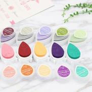 Generic 6 PCS Water Droplets Inkpad Kids Favors Ink Stamp Pads Colorful Ink Pad DIY Scrapbooking Drop Shape, Random Color Delivery