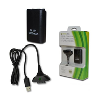 Generic Xbox 360 Play + Charge Kit - Black
