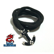 Generic Bracelet Of Black Cord And Floss By Elegance.O.K.M