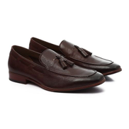 ALDO Classy Glamorous Rounded Leather Dark Brown Shoes
