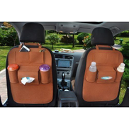 Generic Car Seat Organizer - Brown