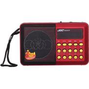 Joc Digital Selects Music Player - FM Radio - Red