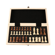 Generic International Chess Set Teaching Competition Chessman Solid Wood Board-wood