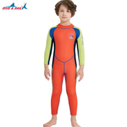 Generic 2.5MM Neoprene Diving Wetsuits For Kids Full Body Thermal Protective Swimming Wet Suit Girls Boys Underwater Surf Jellyfish SkinRed-Green