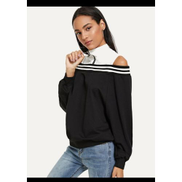Generic Stylish Casual Sweatshirt Good.QualityBlack And White Color