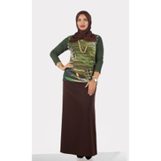 Smoky Egypt Soft Knitted PullOver W Plain Sleeves - Green