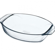 Pyrex 050215411 Optimum Oval Roaster With Handle 35 Cm - Clear