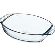 Pyrex محمصة بيضاوية الشكل من بيركس 050215411 بمقبض 35 سم - شفاف