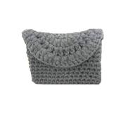 Generic Women Handmade Crochet Clutch - Grey