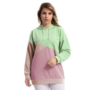 Doe Tricolored Comfy Hoodie-soft Pastel Sugary Colors-MULTICOLOR