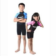 Generic 2mm Neoprene Shorty Kids Wetsuit For Boy Rash Guard Girl Swim Scuba Diving Wet Suit Snorkeling Surf Wear Clothes pink