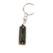 Generic Swan Key Of C Keychain Style Mini Harmonica 4 Hole 8 Tone Black