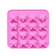 Generic Silicone Cake Mold 16 With Cat Jelly Pudding Diy Chocolate Mold Pink