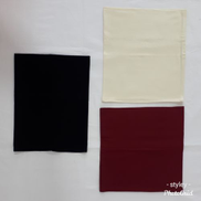 Generic Hijab Cover HairThree Pieces Of White&black&Dark Red Color