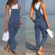 Fashion Hiamok 2018 Women's Fashion Denim Bib Pants Sexy Long Rompers Bib Pants Jumpsuits