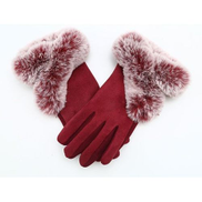 Generic Double Mitten Leather Soft Gloves For Women Model S2044