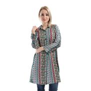 Suzana Floral Long Shirt - Multicolour
