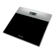 Salter 9206SVBK3R - Glass Bathroom Scale - Silver Black