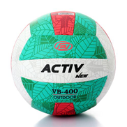 Activ VB-400 Outdoor Patterned Volleyball - Red & Green
