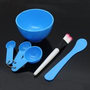 Generic 6 In1 New Women Ladies Makeup Beauty DIY Facial Face Mask Bowl Brush، Spoon Stick Tools Set ToolsBlue