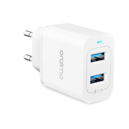 oraimo Firefly OCW-E61D Fast Charger KIT With LED & Dual USB And Micro Cable - White