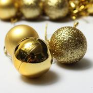 Generic New 24pcs Baubles Christmas Tree Plain Glitter DIY Xmas Party Hanging Craft