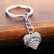 key chain of metal and crystals written on it best friend variety No 587 - 4